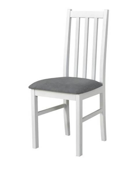 Sconto Jedálenská stolička BOLS 10 sivá/biela