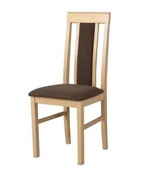 Sconto Jedálenská stolička NILA 2 hnedá/dub sonoma