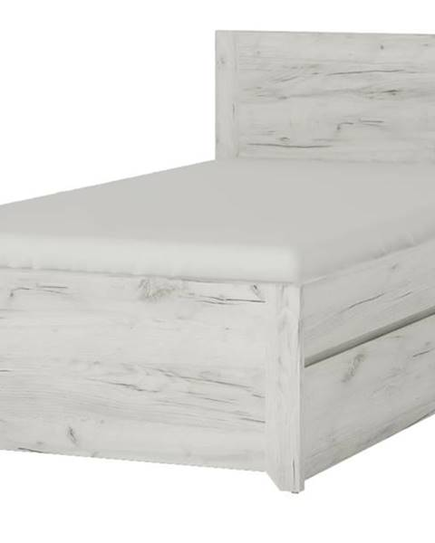 Sconto Posteľ ANGEL 90 dub craft biely, 90x200 cm