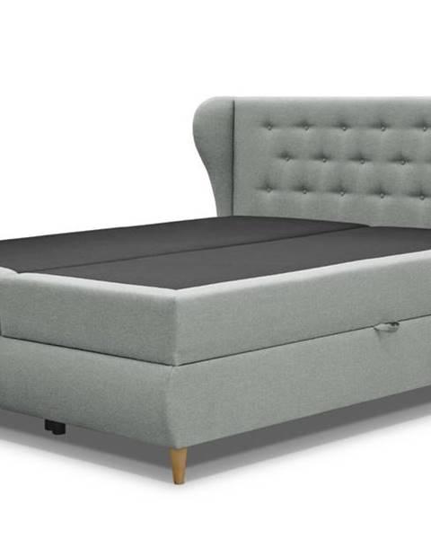 Sconto Posteľ s roštom a matracom FABBY sivá, 180x200 cm