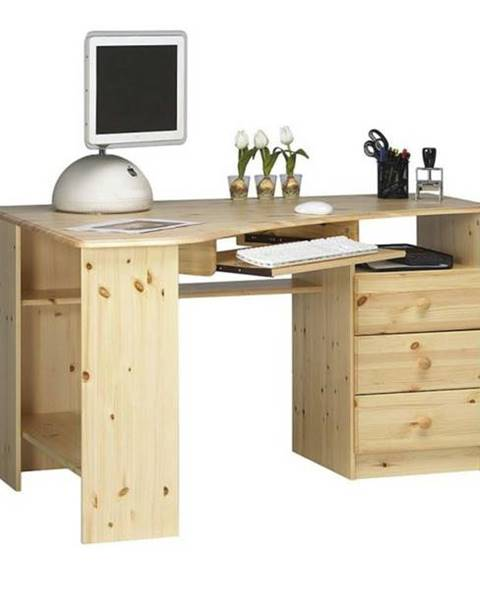 Sconto Rohový PC stôl KENT 279/19 borovica