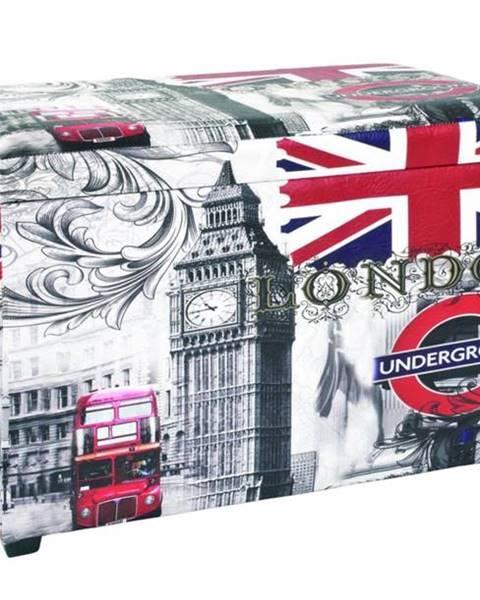 Sconto Truhlica so sedákom UNDERGROUND potlač London