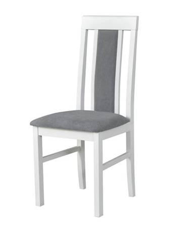 Jedálenská stolička NILA 2 sivá/biela