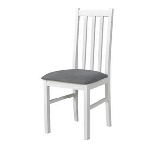 Jedálenská stolička BOLS 10 sivá/biela