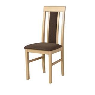 Jedálenská stolička NILA 2 hnedá/dub sonoma