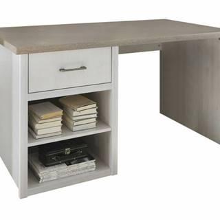 Písací stôl PARVATI pínia biela/dub truffel