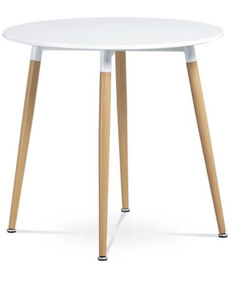 Sconto Jedálenský stôl GAVIN biela/buk