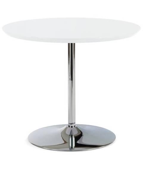 Sconto Jedálenský stôl PAOLO biela/chróm