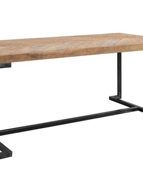 Sconto Jedálenský stôl PARQUET prírodná akácia/sivá
