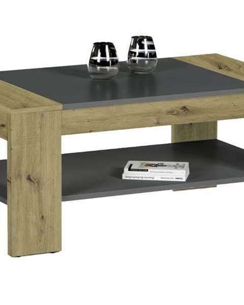 Sconto Konferenčný stolík CLEVELAND dub artisan/sivá