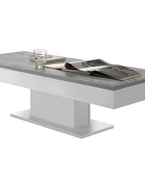 Sconto Konferenčný stolík GRANNY 120 DUB biela matná/betón