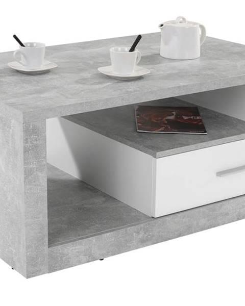 Sconto Konferenčný stolík IGUAN betón/biela