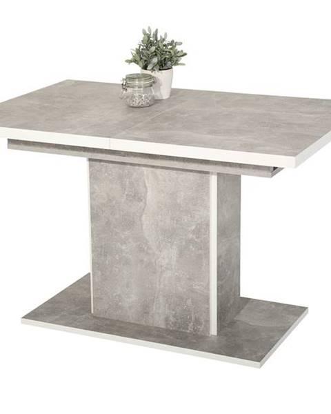 Sconto Stôl ALICE T betón/biela