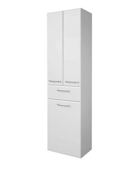 Sconto Vysoká kúpelňová skrinka FILO biela vysoký lesk