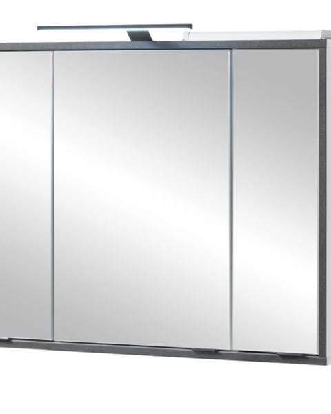 Sconto Zrkadlová skrinka NEWPORT biela/antracitová