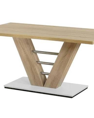 Jedálenský stôl BAHRAIN dub sonoma/kov