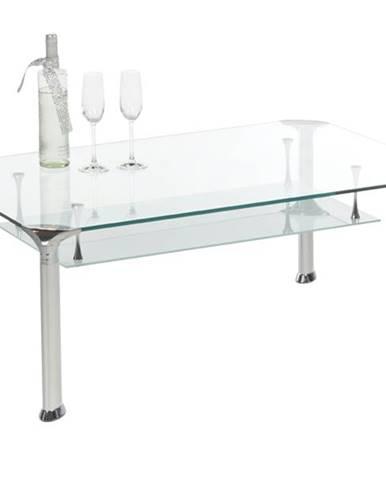Konferenčný stolík ALBERTO číre sklo/kov