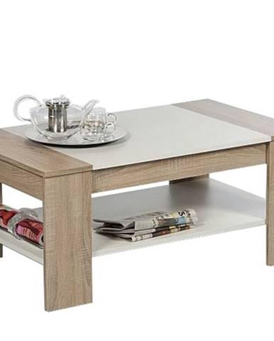 Konferenčný stolík FINLEY dub sonoma/biela