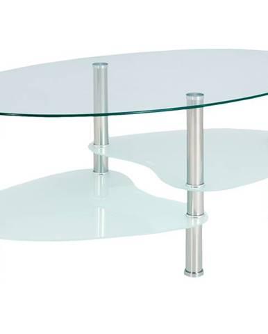 Konferenčný stolík HAMBURG sklo/oceľ
