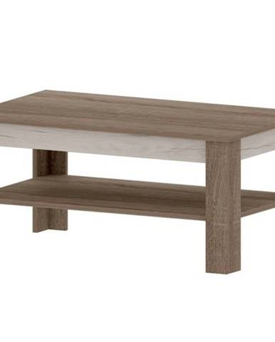 Konferenčný stolík VALENCIA dub truffel/dub craft biely
