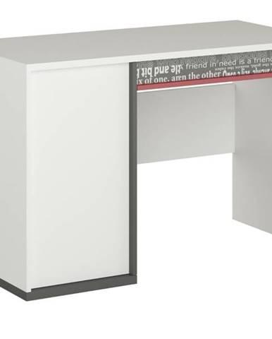 Písací stôl PHILOSOPHY PH-09 biela/grafit
