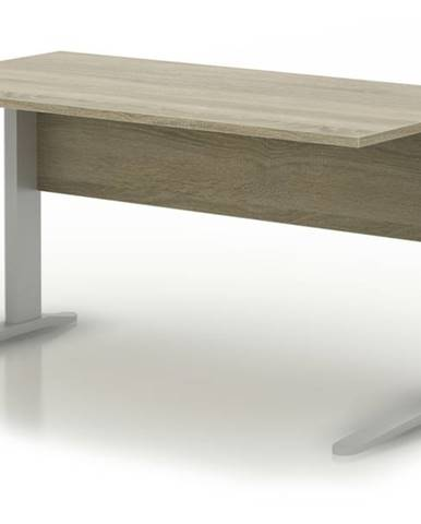 Písací stôl RIO dub sonoma/sivá