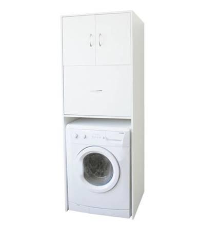 Skriňa nad práčku LAVANDE biela