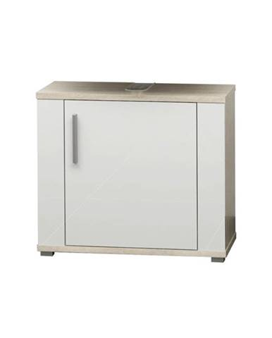 Umývadlová skrinka LINDA LI02 dub sonoma/biela