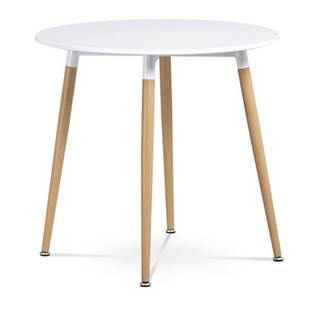 Jedálenský stôl GAVIN biela/buk