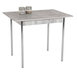 Jedálenský stôl KOELN II betón/chróm