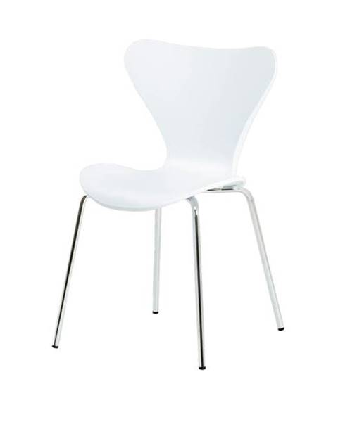 Sconto Jedálenská stolička ALBA biela/chróm