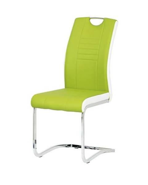 Sconto Jedálenská stolička ASHLEY zelenobiela