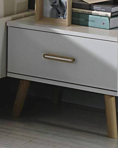 Sconto Nočné stolíky - sada 2 ks KOLDING alpská biela/jaseň coimbra