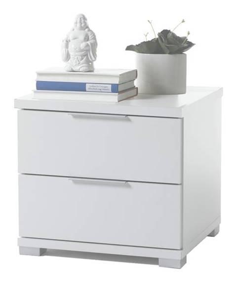 Sconto Nočný stolík KORON 2 biela