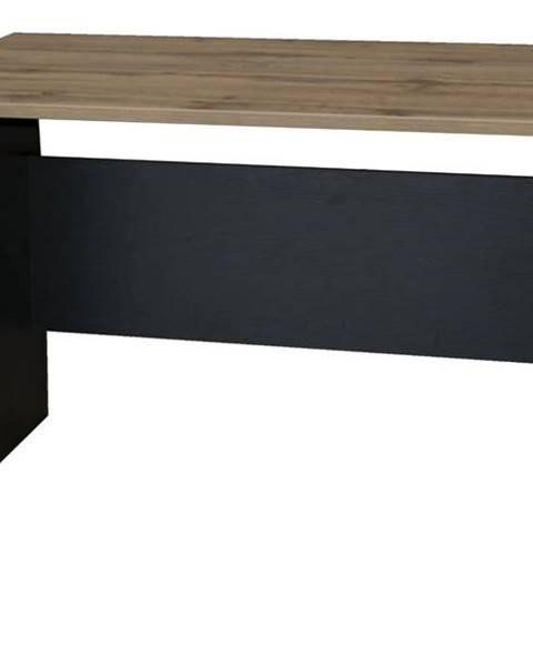 Sconto Písací stôl BÁRA SC 209 dub wotan/čierna