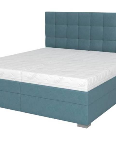 Sconto Posteľ DANA tyrkysová, 180x200 cm, s matracom