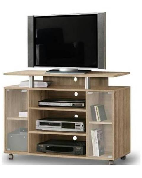 Sconto TV stolík RAT 338 dub sonoma/sklo