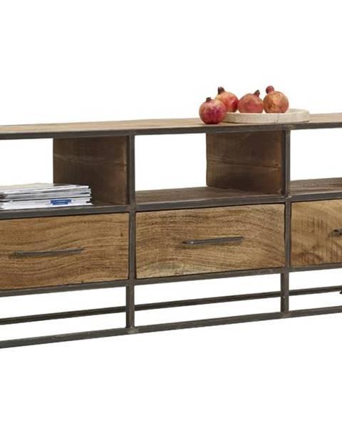 Sconto TV stolík SPRING akácia/kov
