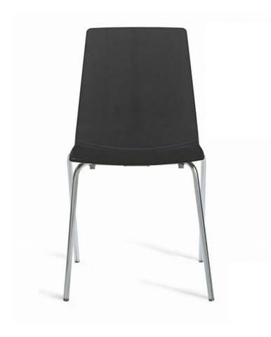 Jedálenská stolička LOLLIPOP čierna