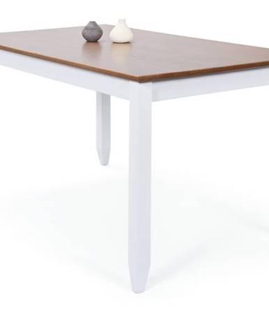 Jedálenský stôl WESLEY borovica biela/hnedá
