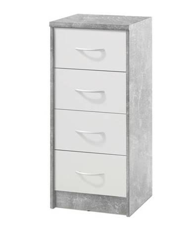 Komoda OPTIMUS 38-000 beton/biela
