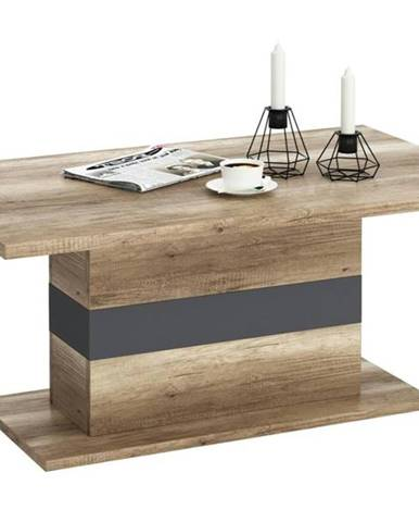 Konferenčný stolík MADRAS dub canyon/sivá