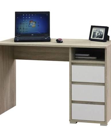 Písací stôl FABIO 1 prírodná/biela