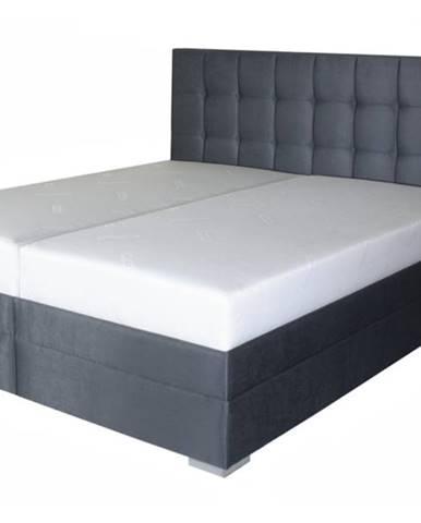 Posteľ DANA sivočierna, 180x210 cm, s matracom