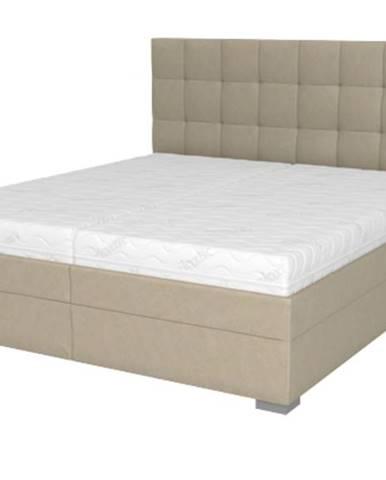 Posteľ DANA béžová, 180x200 cm, s matracom