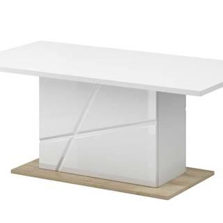 Konferenčný stolík FUTURA 09 biela vysoký lesk/dub riviera