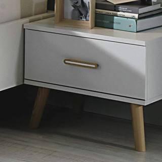 Nočné stolíky - sada 2 ks KOLDING alpská biela/jaseň coimbra