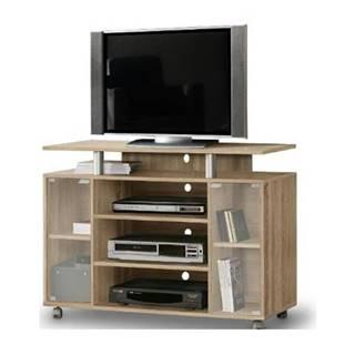 TV stolík RAT 338 dub sonoma/sklo