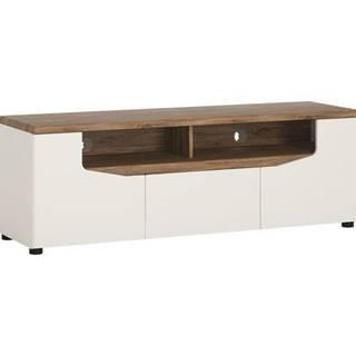TV stolík TOLEDO biela/dub stirling