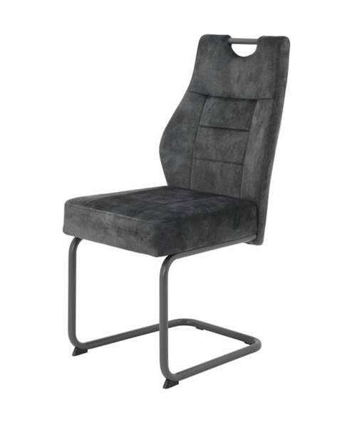 Sconto Jedálenská stolička LINDA S antracitová